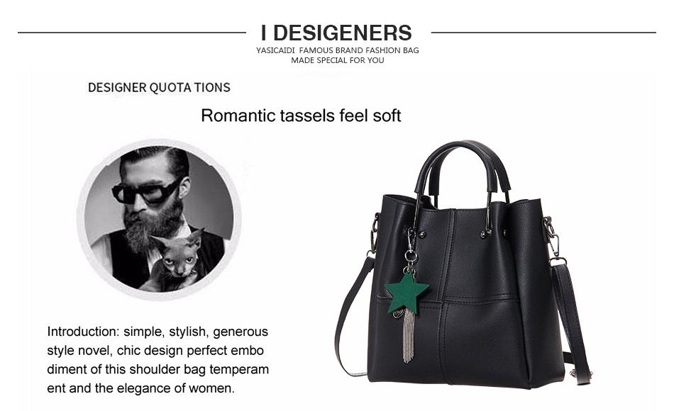 Shoulder Bag with Tassels   Composite Bag - 2 Pieces – Shopillar 1dbe7abb254a3
