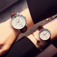 Women Watches Leather Band Men Quartz Wristwatch Fashion Classical Student Casual Lover Watch Waterproof Christmas presen