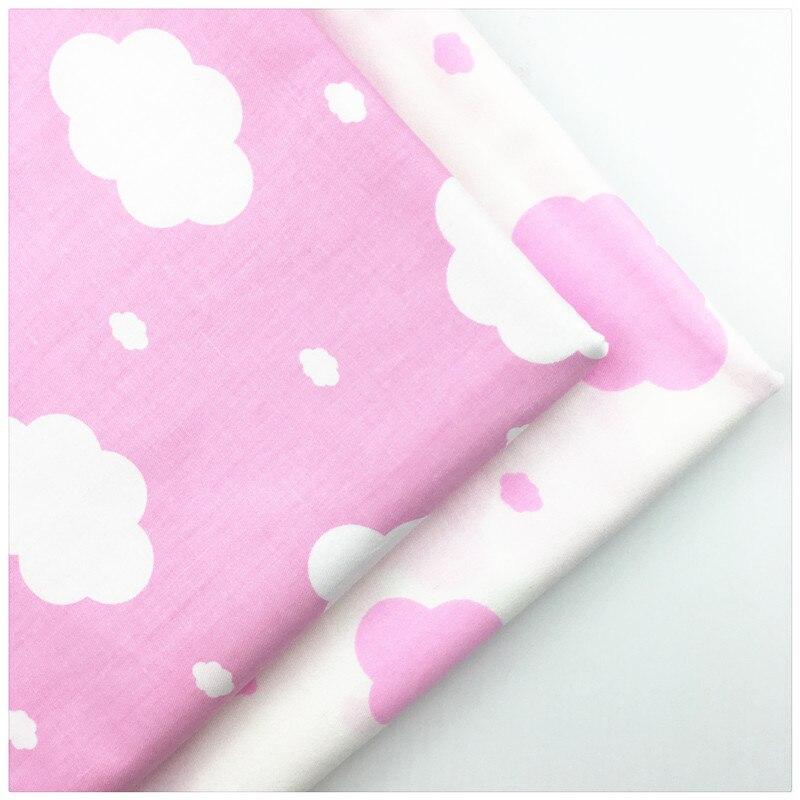 Nubes de Color Rosa de Tela de algodón Estampado de Rayas ropa de Cama de Tela D