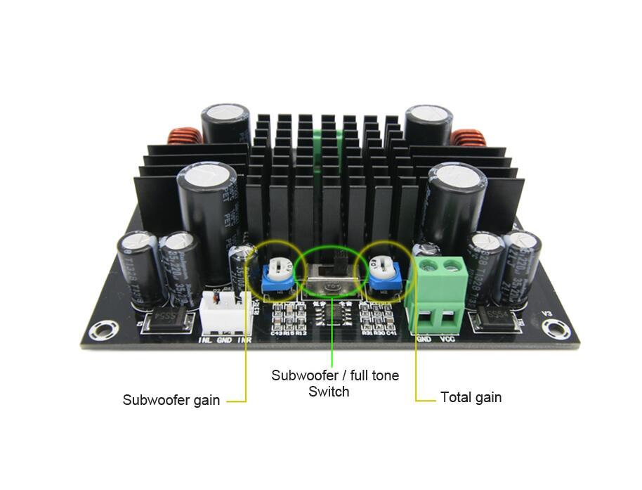Image 5 - 150W Single track Digital power audio amplifier board heavy bass Subwoofer amplifier mono for Speakeramplifier monosubwoofer amplifier monoamplifier board -