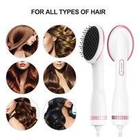 2 In 1 Hair Dryer With Hair Straigtner Styler Comb 2019 Newest Negative Ion Detangling Dryer Brush Fast Hair Dryer Brush