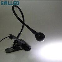 SOLLED USB Elastyczne LED Lampa Biurko Mini Regulowany Klips Czytanie Światło na Komputerze PC Laptop
