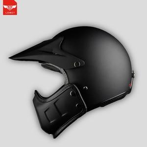 Винтажный мотоциклетный шлем для мотокросса Ретро Кафе Racer Vespa открытое лицо kask полное лицо casco moto модульный мотоциклетный шлем в горошек
