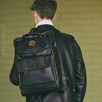 LIELANG Backpack Men Leather School Backpack Bag For College Simple Design Men Casual mochila Travel Backpacks