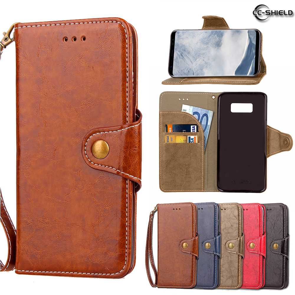 Flip Case for Samsung Galaxy S8 Plus S8Plus G955 G955F G955FD Wax Oil Business Leather Cover Phone Case SM-G955F SM-G955FD Capa