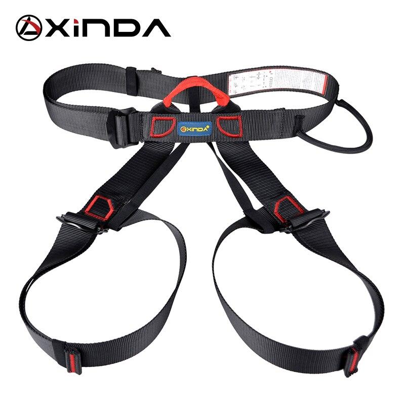 Xinda Professional กีฬากลางแจ้งความปลอดภัยเข็มขัด ROCK Climbing สายรัดเอวสนับสนุนครึ่ง Body Harness Aerial Survival อุปกรณ์