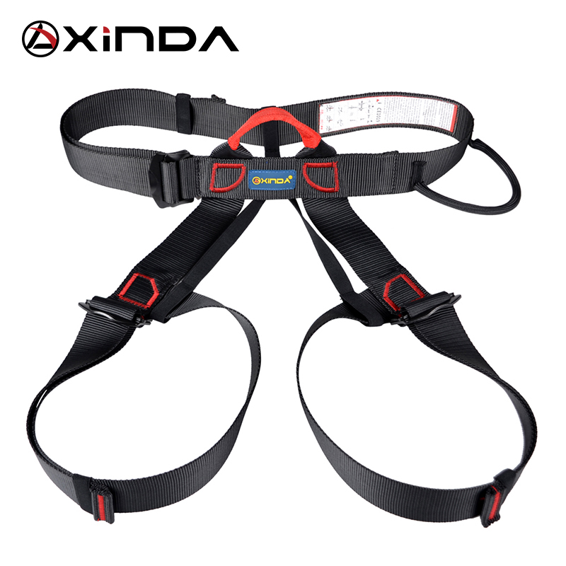 Xinda Professional Outdoor Sports Safety Belt Rock Climbing Harness Midja Support Half Body Harness Aerial Survival Equipment