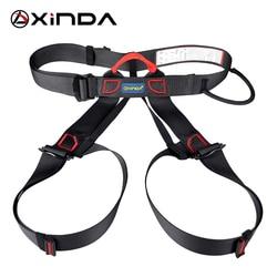 Xinda Professional Outdoor Sports Safety Belt Rock Climbing Harness Waist Support Half Body Harness Aerial Survival Equipment