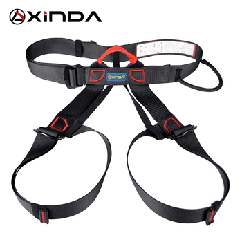 Xinda Professional Outdoor Sports Safety Belt Rock Mountain Climbing Harness Waist Support Half Body Harness Aerial Survival