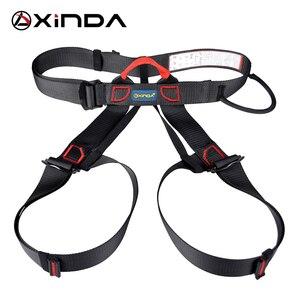 Image 1 - Xinda Professional Outdoor Sports pas bezpieczeństwa wspinaczka skałkowa Outfitting uprząż pas wspierający pół szelki Aerial Survival