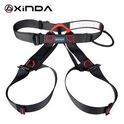 Xinda profissional esportes ao ar livre cinto de segurança escalada arnês cintura suporte metade do corpo equipamento sobrevivência aérea