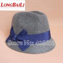 new adjustable 2014 winter felt hat ladies, wool flat brim hats for women, chapeu hat, feminino trilby cap, free Shipping