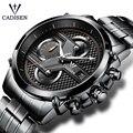Роскошные Кварцевые часы для мужчин с хронографом из нержавеющей стали  мужские часы от ведущего бренда  Роскошные наручные часы для мужчин...