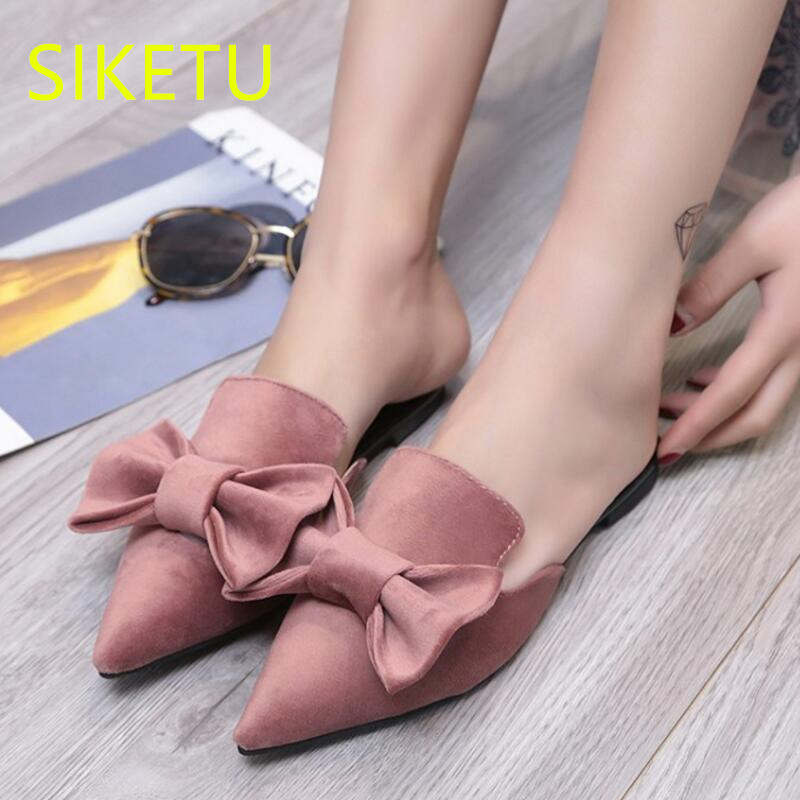 SIKETU Free shipping summer Fashion casual shoes Professional women's shoes Flats sandals platform shoes t009 flip flop Bow tie