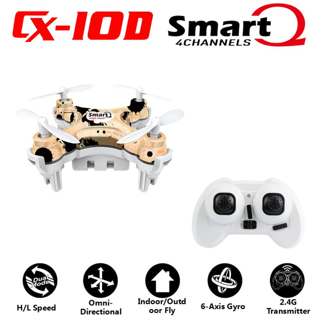 Cheerson CX10D CX 10D CX-10D 2.4GHz 4CH 6 Axle Gyro High hold Mode RC Helicopter Quadcopter Micro Mini Drone Mode2 RTF
