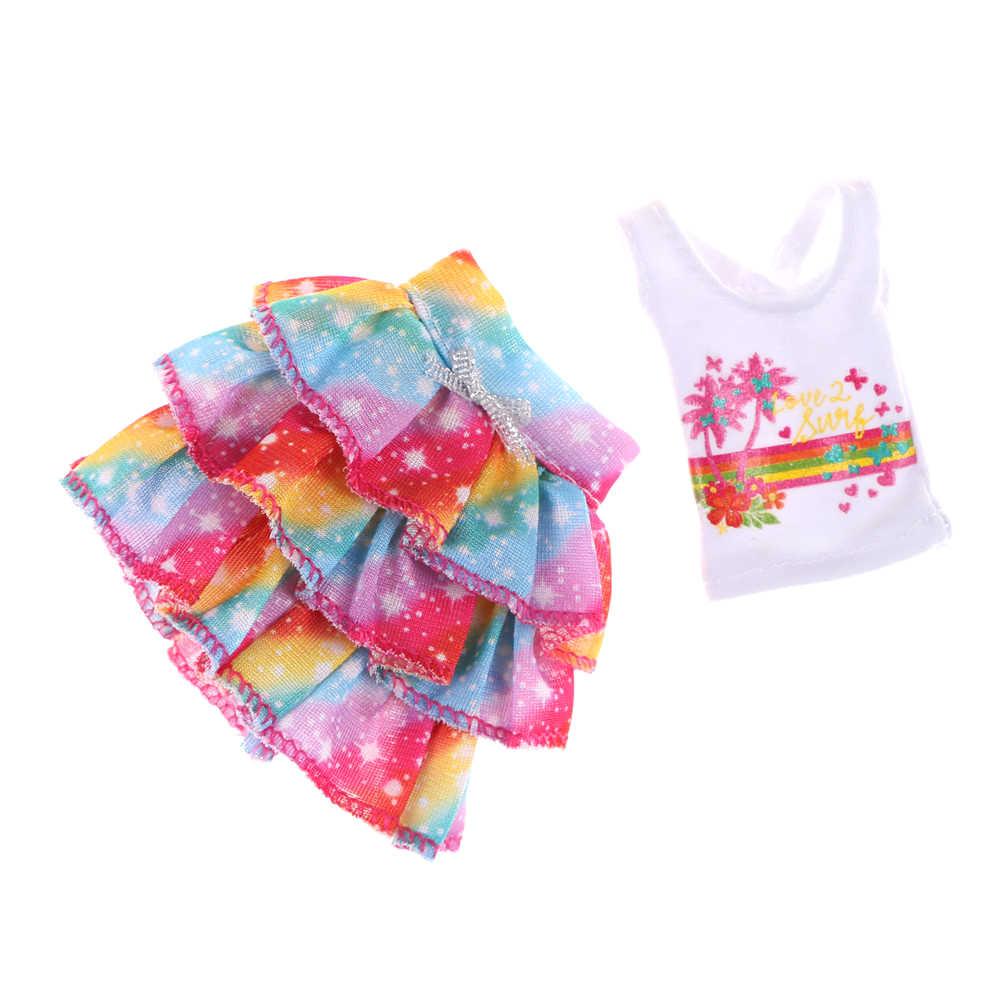 Para boneca original roupas vestido boneca original menina melhor presente um conjunto moda saia vestido de festa