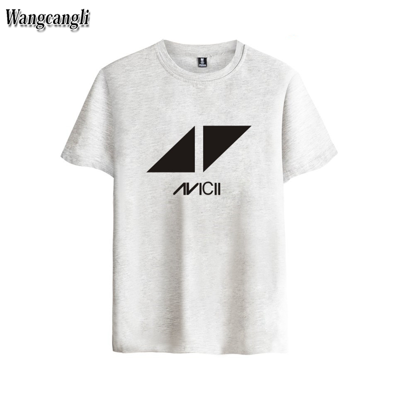 2017 Avicii DJ Logo Summer T-shirts Female Cotton Short Sleeve Print Fans Club Casual Hip Hop Tee tops Homme Men/WomeWANGCANGLI
