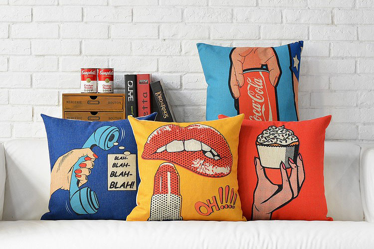 Custom Made The Pop Art Sofa Cover American Style Pillow Covers Cute And  Comfortable Home Pillow Decoration In Cushion Cover From Home U0026 Garden On  ...