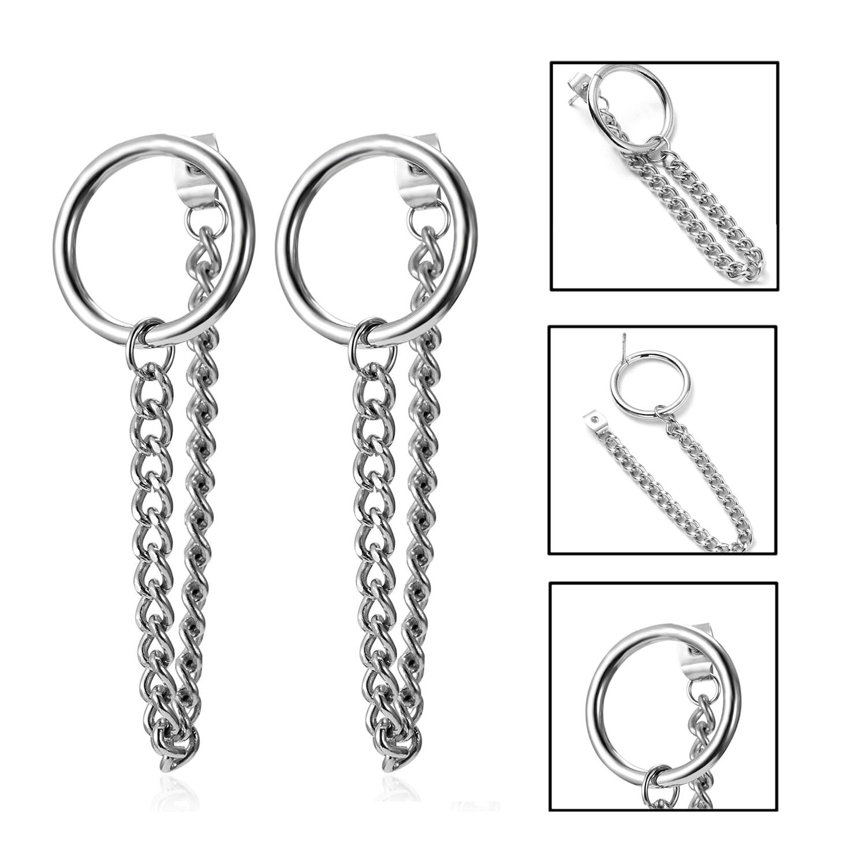 Pendientes Mujer Moda корейские модные ювелирные изделия геометрические длинные серьги-гвоздики с кисточками для женщин Brincos Kpop серьги для мужчин - Окраска металла: 10
