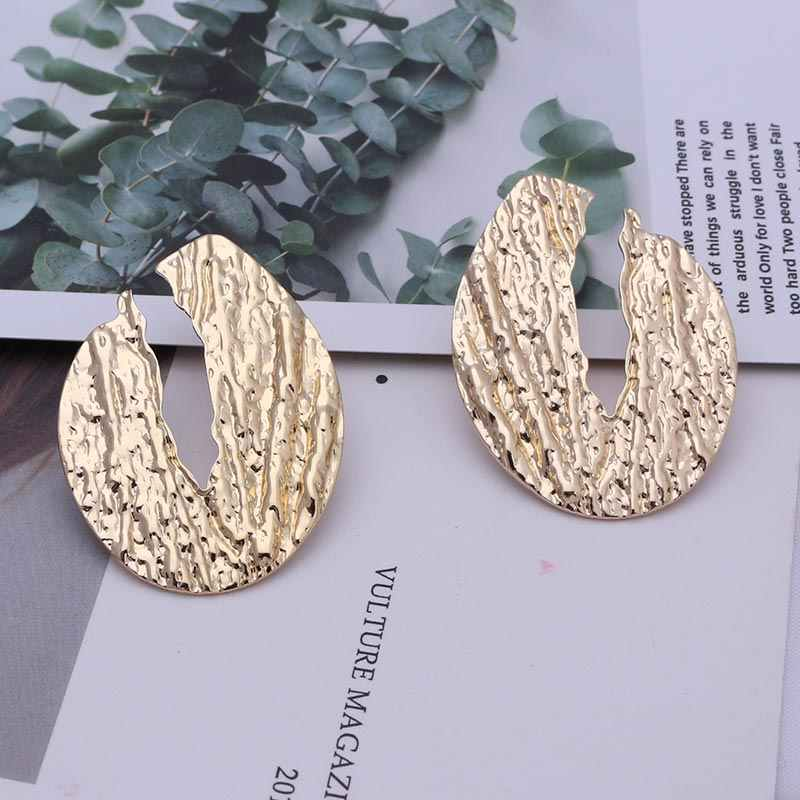 Water Drop Earrings Women Statement 2019 Geometric Earrings For Women Punk Vintage Gold Color Hanging Dangle Earring EB219