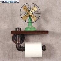 BOCHSBC Wooden Toilet Roll Holder Creative Retro Toilet Paper Holder Restroom Bathroom Toilet Paper Box Vintage Toilet Holder