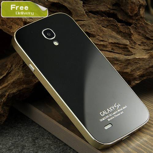 the best attitude 5f977 f0a5a US $22.47 |New style Aluminum metal cover case for Samsung galaxy S4 I9500  replacement back cover+metal fame for galaxy s4 free 5 gift on ...