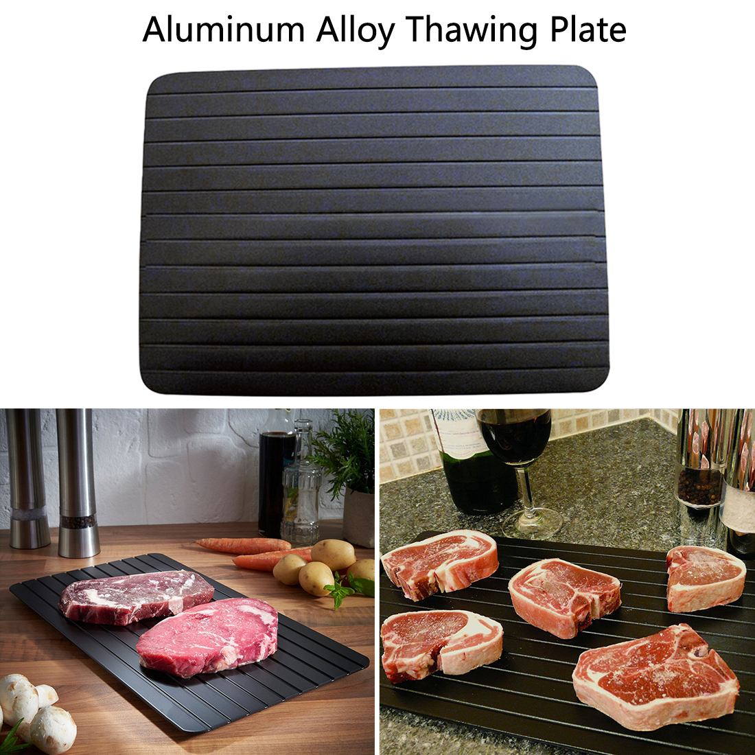 Quick Defrosting Plate Board Defrost Kitchen Gadget Tool Fast Defrosting Tray Thaw Frozen Food Meat Fruit