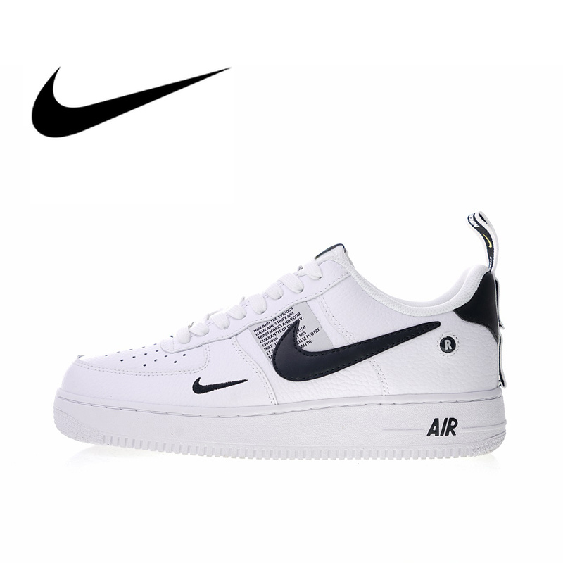 Original Authentic Nike Air Force 1 07 LV8 Utility Men's Skateboarding Shoes Sport Outdoor Sneakers Designer 2018 New AJ7747 100