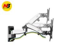 NB F150 Aluminum Alloy 360 Degree 17 27 Monitor Holder Gas Spring Arm LED LCD TV Wall Mount Loading 2 7kgs