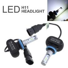 цена на 2pcs H11 CSP Chips Car LED Bulbs S1 H11 Auto Car Headlight 50W 8000LM 6000K Automobile Fog Lamp CSP LED Light for Cars Vehicle