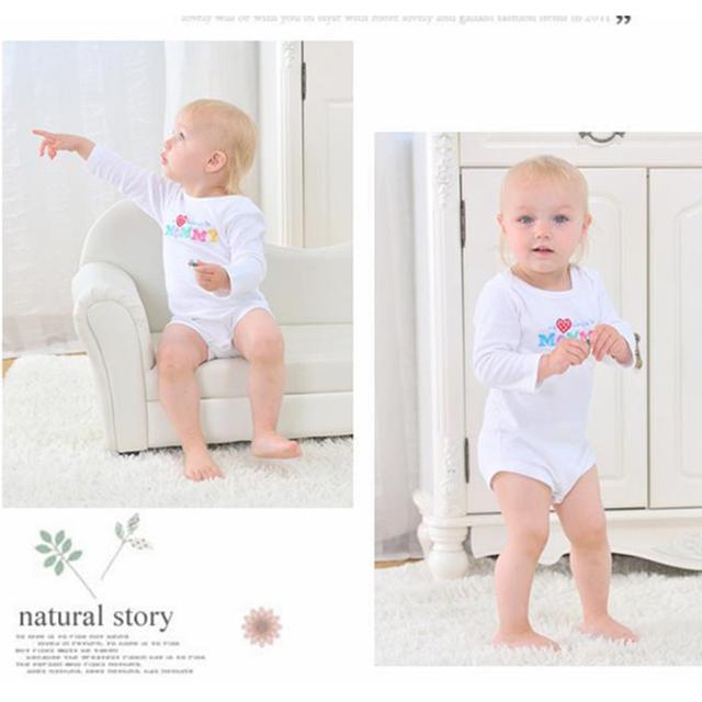 Carta Roupas Roupas Para Bebês Recém-nascidos de Algodão Ativo 2 Estilos Meninos Meninas Bodysuit O Pescoço Triângulo Escalada Roupas Macacão de Bebê