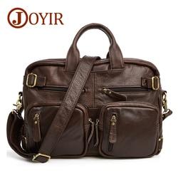 JOYIR bolsos de diseñador bolso de viaje de cuero genuino para hombre bolsos de viaje Vintage bolso de lona multifunción grande bolsa de fin de semana