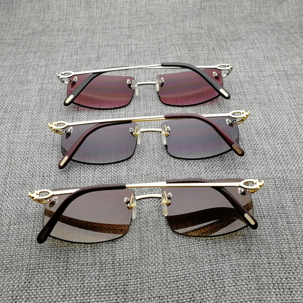 Retro Rimless Clear Glasses Metal Frame Men Square Sunglasses Women For Reading Glasses Oculos Gafas for Beaching Driving 011 in Men 39 s Sunglasses from Apparel Accessories