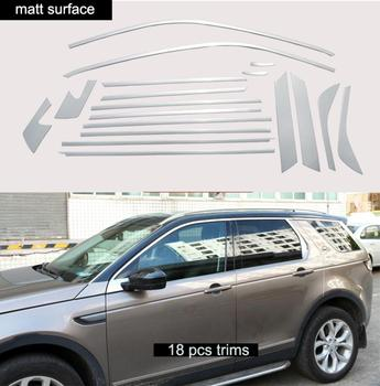 Stainless steel Exterior Window Sill Lid Trims car accessories for Land Rover Discovery Sport 2015 2016 2017 2018 Car Styling