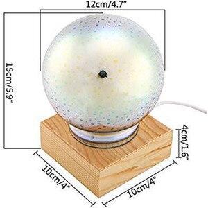 Image 5 - 3D magiczne z kulami kryształowymi lampka nocna kolorowe lampy stołowe USB Power Butterfly Snowflake Universe Rose Lover Home prezenty dla dzieci