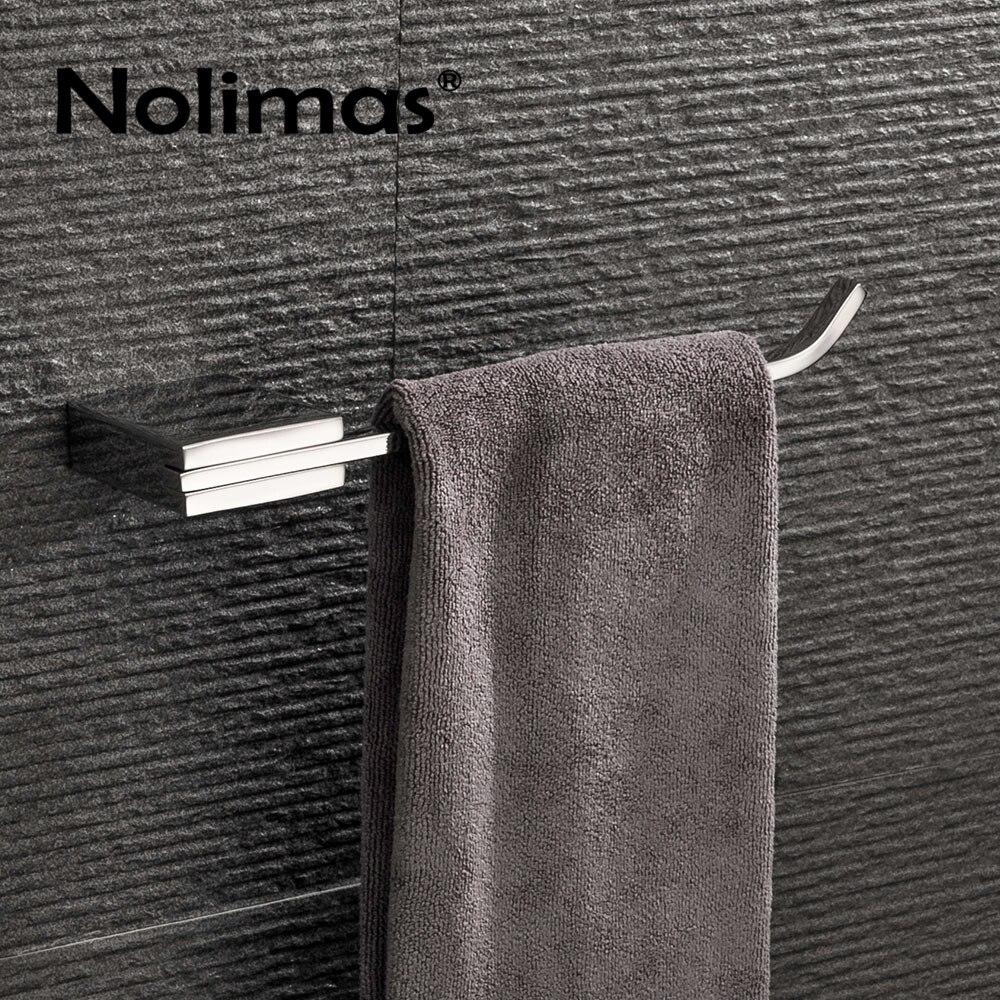 Mirror Polished SUS304 Stainless Steel Single Towel Bar Towel Rack Holder Wall Mounted Towel Ring Bathroom Accessories