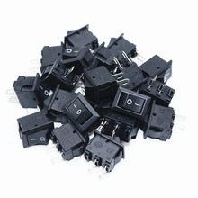 100pcs/300pcs/500pcs Push Button Switch 10x15mm SPST 2Pin 3A 250V KCD1 Snap-in On/Off Boat Rocker Switch 10MM*15MM Mini Black