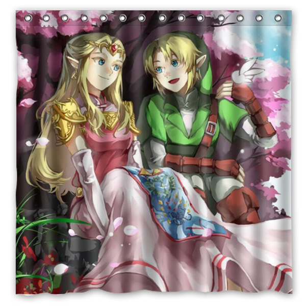 Legend Of Zelda Bath Shower Curtain 180x180cm Fashional Waterproof Polyester Bathroom Curtains Include 12 White Hooks In From Home Garden