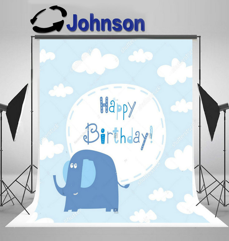 party photography backgrounds Vinyl cloth High quality Computer print Baby Cloud Birthday photo backdrop