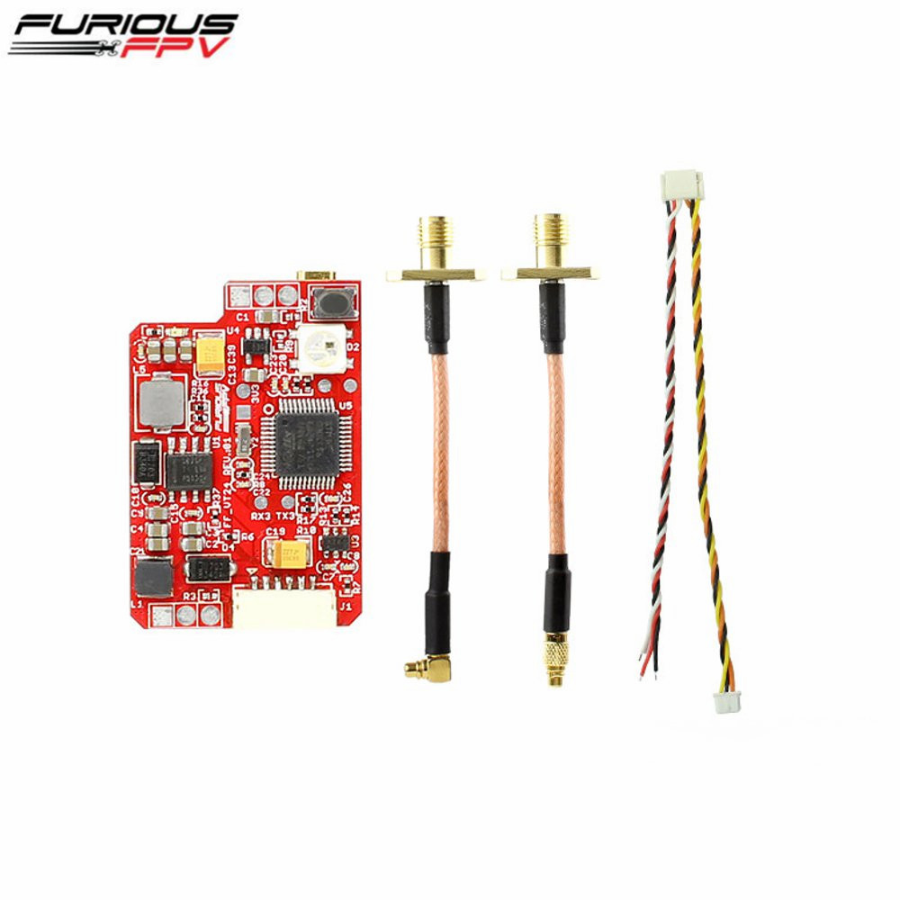 FuriousFPV 2.4G 16CH 25/200/500/800mW Switchable VTX Stealth Long Range FPV Video Transmitter For RC Models FPV Transmission furiousfpv combo stealth long range fpv vtx 700mw with led strip and bluetooth module for rc drone racing quadcopter fpv parts