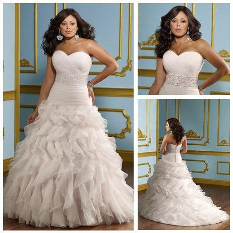 Ball Gown Organza Sweetheart Dropped Waist 2012 Hot Pink Wedding ...
