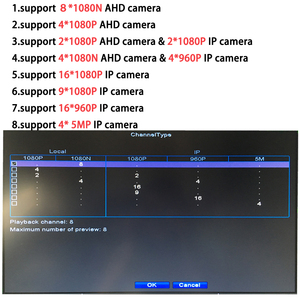 Image 4 - OUERTECH AHD CVI TVI IP CVBS 5 en 1 8CH