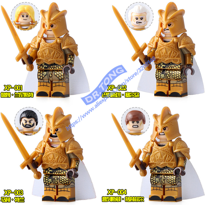 Singal Sale Game of Thrones MOC Ice and Fire Series Jaime Lannister Barristan Selmy Meryn Trant Greenfield Building Bloks Toys wm7 jon snow moc custom made game of thrones mini dolls ice and fire series lepin building block eductaional chindren toys