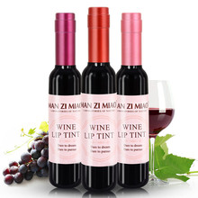 1pc Korean Cosmetics Brand Makeup Red Wine shape Matte Lip Tint Lip Gloss Waterproof Lipgloss Liquid Lipstick Batom Lip Stick