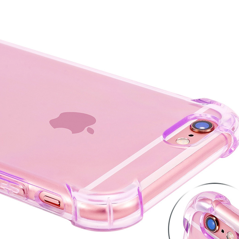 Drop Resistance Anti-knock Clear TPU Gel Case For iPhone X 8 7 6 6S Plus 5 5S SE Super Thin Airbag Durable Shock Proof Cover
