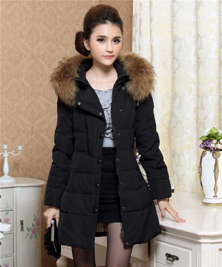 Winter Coat Jacket Women 2015 New Fashion Ladies Fur Hooded Wadded Parkas Women Slim Long Coat Overcoat XXXXL H5487 цены онлайн