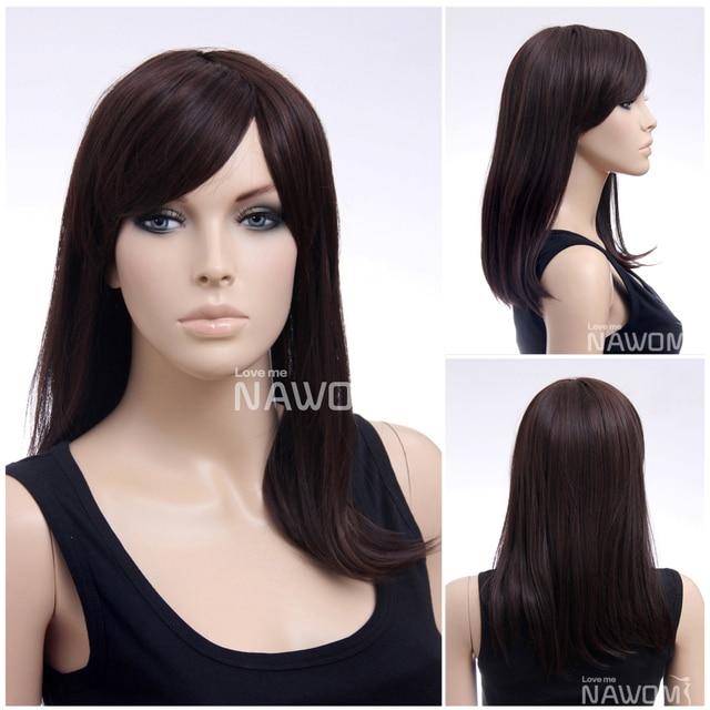natural synthetic fiber dark brown