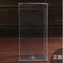 100pcs/lot 8x8x30cm  Plastic PVC Clear Commodity Phone Boxes Underwear Tea Fruit Storage Case Box