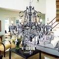 Современный подвесной светильник  модный хрустальный подвесной светильник для гостиной  дымчато-серая Свеча лампа