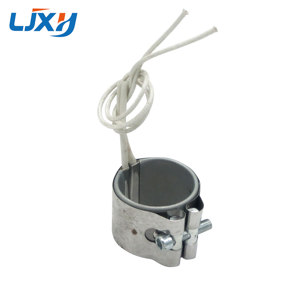 LJXH AC220V/110V/380V Electric Heating Element 40X25mm/40x30mm/40x35mm/40x40mm Mica Band Heater Stainless Steel